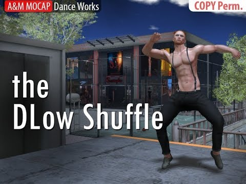 SL - Dlow Shuffle - dance animation for Second Life (Bento)