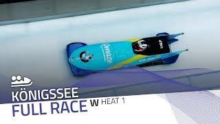 KÖnigssee | BMW IBSF World Cup 2019/2020 - Women's Bobsleigh Heat 1 | IBSF Official
