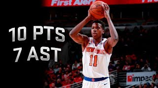 Frank Ntilikina Full Highlights vs Bulls 12.9.2017 - 10 Points, 7 Assists