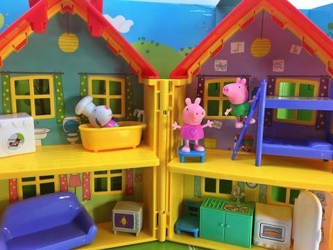 #peppapig-y-george-juegan-en-la-casa-nueva-de-peppa-pig