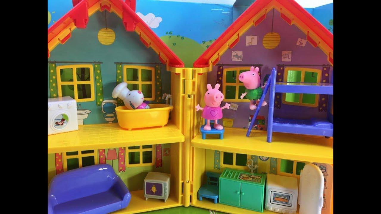 peppapig y george juegan en la casa nueva de Peppa Pig  YouTube