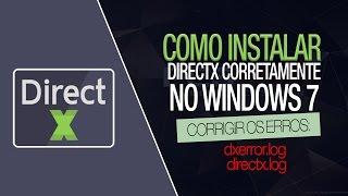 Erro dxerror.log e directx.log - Instalar o Directx Corretamente