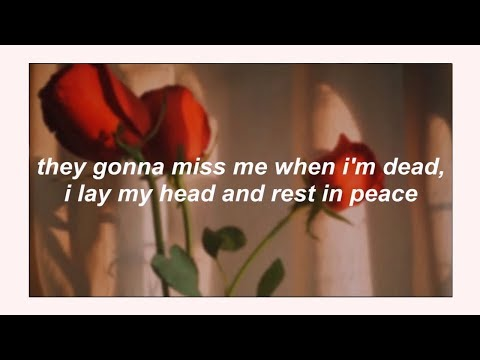 ☆lil peep☆ // praying to the sky (lyrics) ✞ #rip