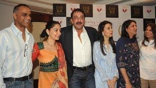 Sanjay Dutt With Family @ Nargis Dutt Memorial Press Meet
