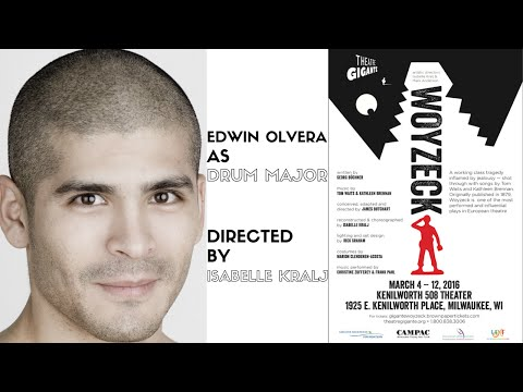 EDWIN OLVERA AS THE DRUM MAJOR IN WOYZECK PRESENTED BY THEATRE GIGANTE