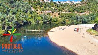 Penacova, Reconquinho beach aerial & Livraria do Mondego - 4K UltraHD