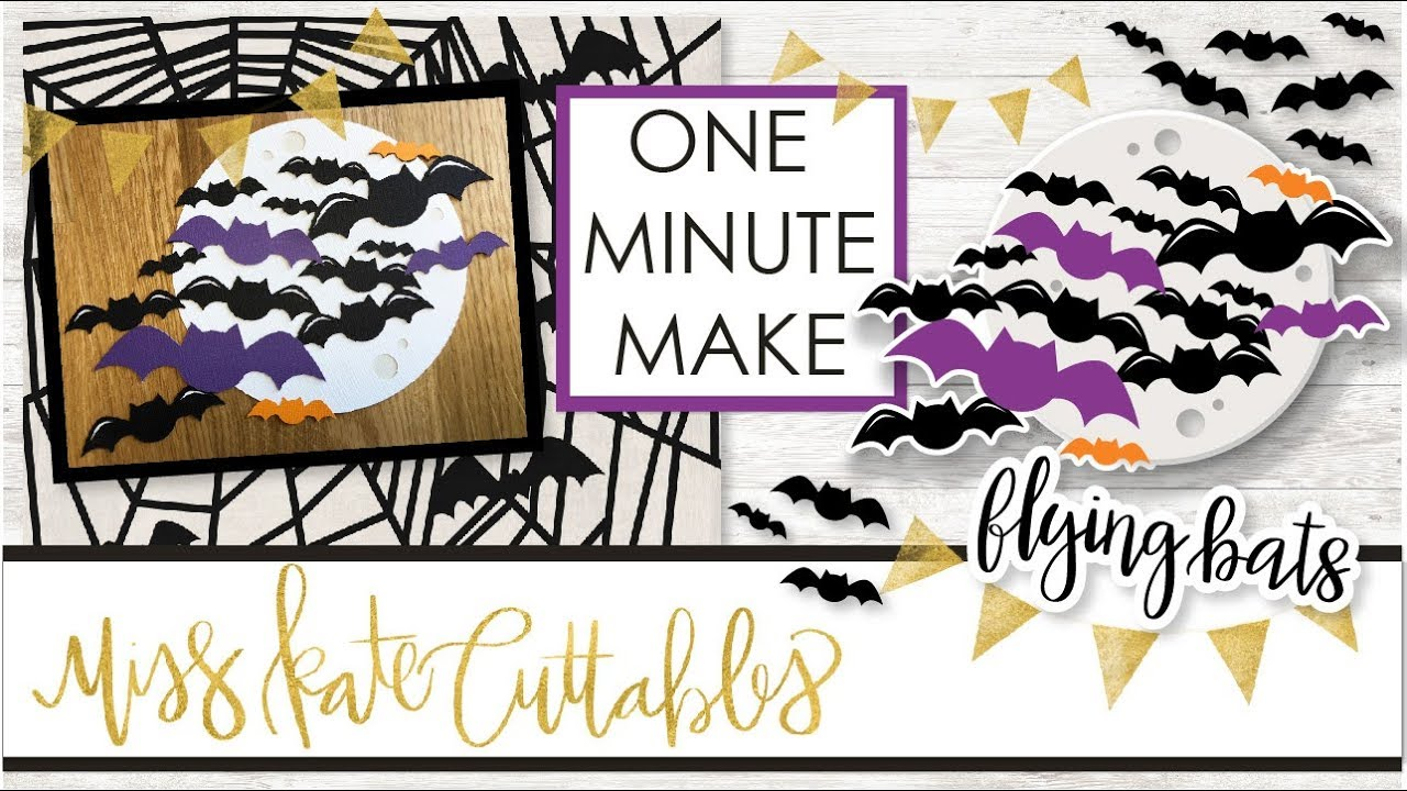 one minute make - flying bats how to halloween diy tutorial with