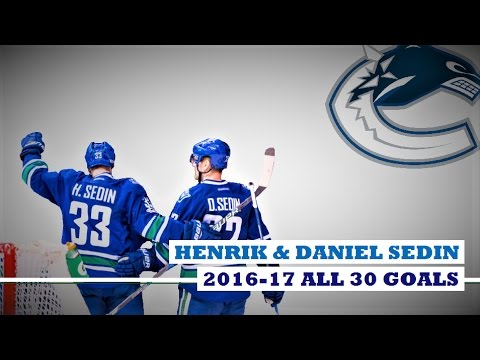 Henrik Sedin (#33) & Daniel Sedin (#22) ● ALL 30 Goals 2016-17 Season (HD)