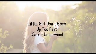 Little Girl Don't Grow Up Too Fast LYRICS