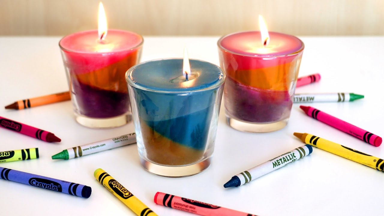 Ecco come realizzare delle candele di cera colorate in for Candele colorate
