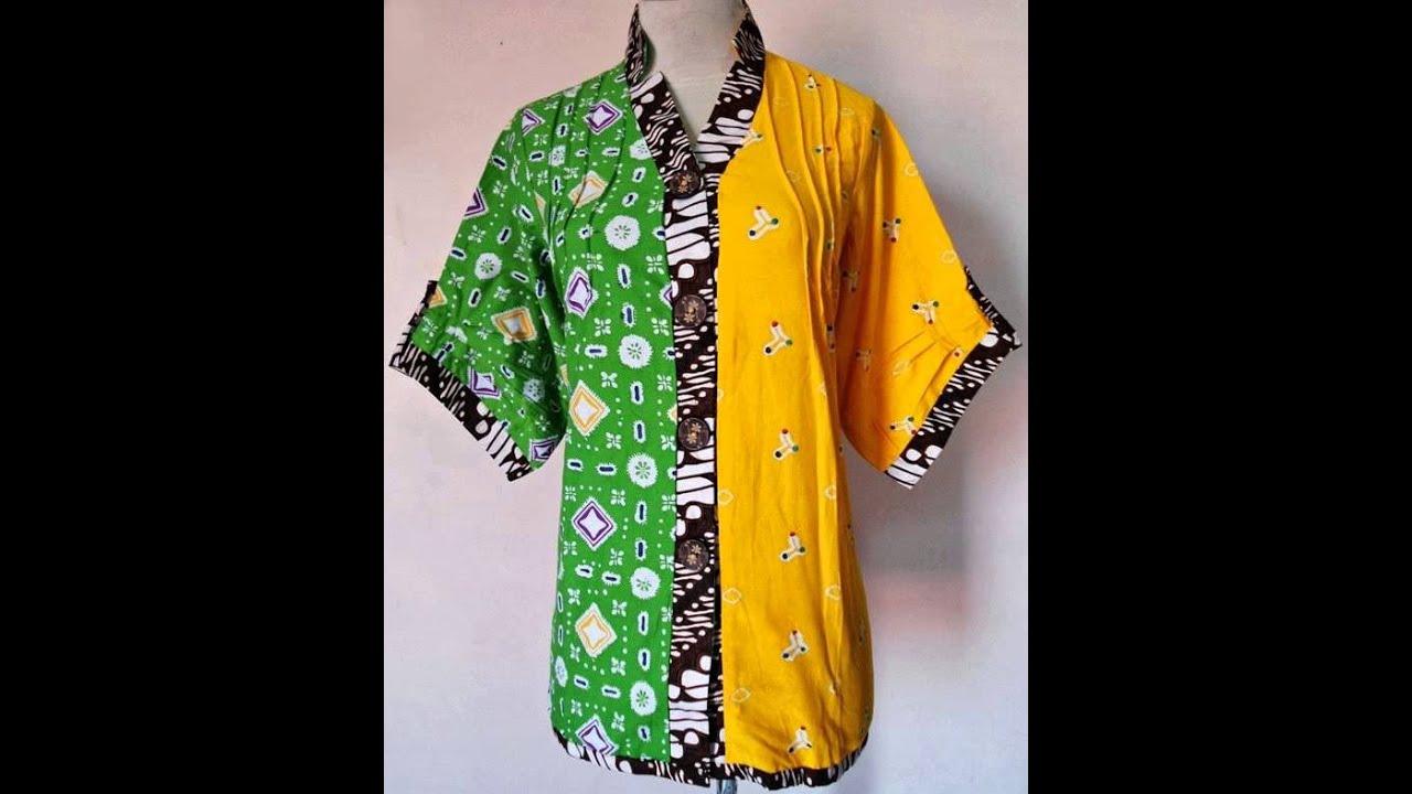 Baju Batik Jumputan Kombinasi Cap Terbaru