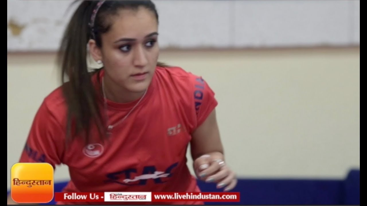 Manika Batra scored 9 out of 10 in Rapid fire round with live hindustan