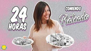 24 HORAS COMIENDO PLATEADO | 1 día entero comiendo por color Plata Momentos Divertidos Jordi y Bego