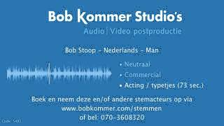 Bob Stoop   Nederlands   Voice over stemdemo