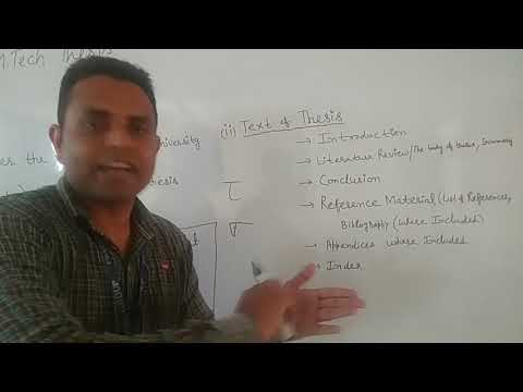 How To Write An M.tech Thesis OR Project Report By Prof. Neeraj Kumar