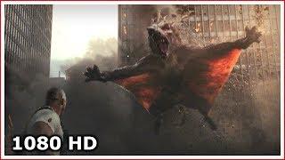 Крокодил убивает волка | Странный момент из фильма | Рэмпейдж (2018)
