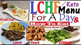 LCHF Complete Menu For A Day & Useful Eating Tips ഒരു ദിവസത്തേക്കുള്ള ഭക്ഷണ ക്രമം