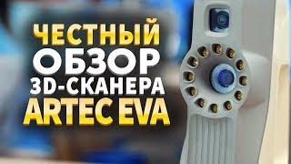 Обзор Artec 3D. Тестируем 3D сканеры Artec.  3D Сканер Artec EVA 3D.