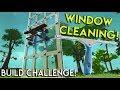 SKYSCRAPER WINDOW CLEANING CHALLENGE! - Scrap Mechanic Multiplayer Gameplay - Build Challenge