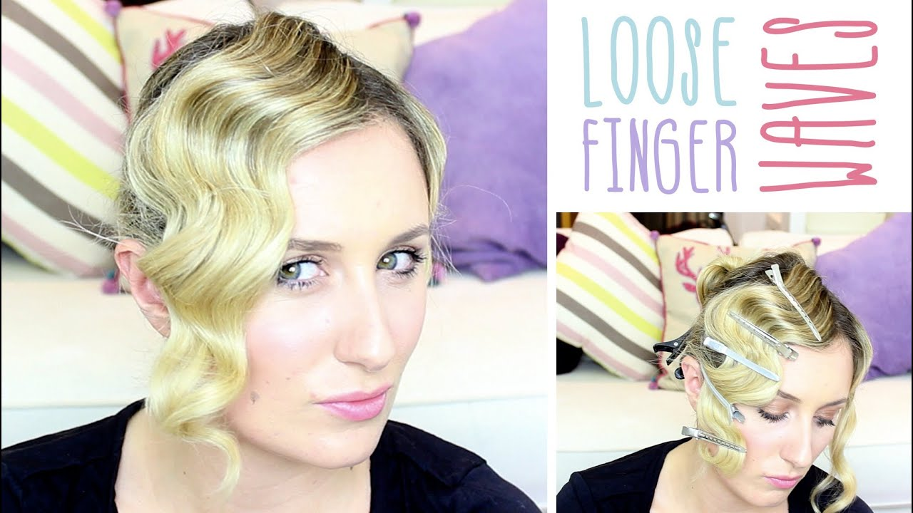 How To: Loose Finger Waves - YouTube