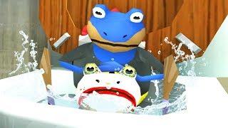 BAT FROG FLUSHES JOKE FROG DOWN THE MAGIC TOILET - Amazing Frog - Part 134  Pungence