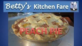 Betty's Peach Pie (lattice Top)