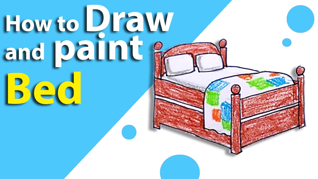 learn how to draw a bed step by step kids drawing lesson 12 youtube. Black Bedroom Furniture Sets. Home Design Ideas