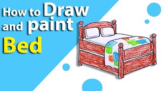 Learn How to Draw a BED   STEP BY STEP   Kids Drawing   Lesson 12