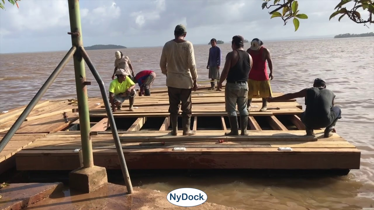 Construction Hangar Bois Prix vidéos - nydock floating docks & pontoons pipefusion in