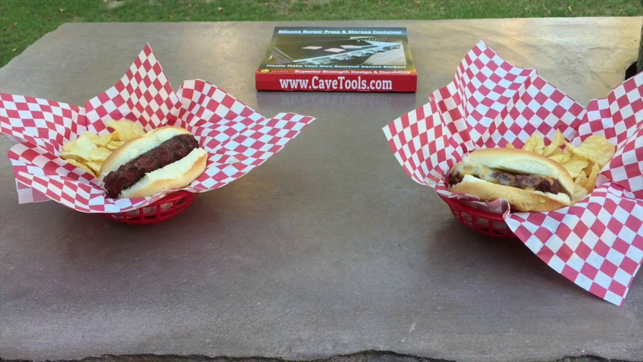 cave tools burger press youtube