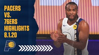 Indiana Pacers Highlights vs. Philadelphia 76ers | August 1, 2020 ...