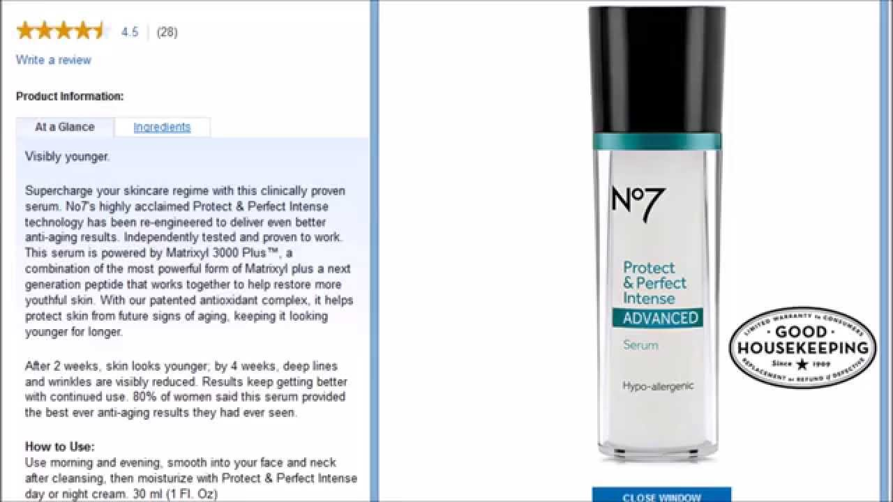 boots no 7 protect  u0026 perfect intense advanced serum review