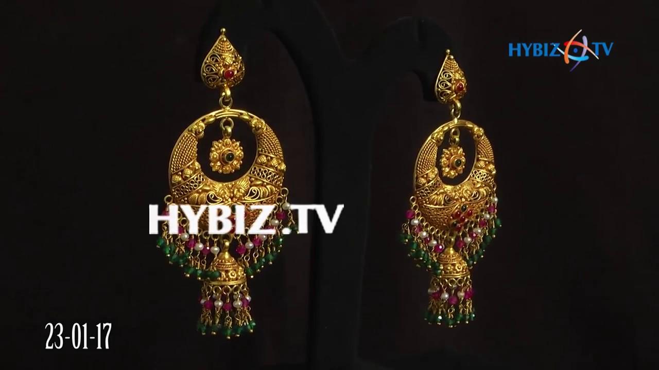 Latest Chandbali Jhumkas   Malabar Gold and Diamonds - YouTube