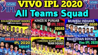 IPL 2020  All Teams Probable Squad  CSK KKR RCB KXIP IPL 2020 Squad  All Squad