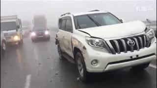VL.ru - Трасса Седанка — Патрокл перекрыта из-за тумана и массового ДТП