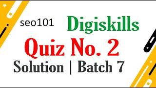 SEO Quiz  2 Solved 2020