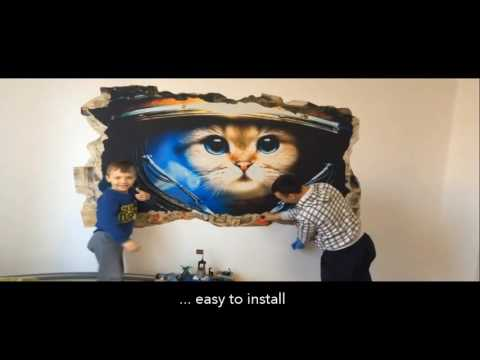 How to Install Realistic 3D Mural on the Wall, Harley Davidson, Glow in the Dark! by Startonight