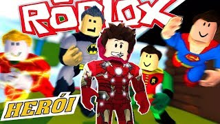 FÁBRICA DOS VINGADORES NO ROBLOX ! (Super Hero Tycoon) vaza cena vingadores ultimato universo marvel