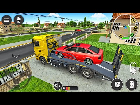 Towing Truck Driving Simulator - Rescue Breakdown Car onto Tow Trailer Truck - Android Gameplay |