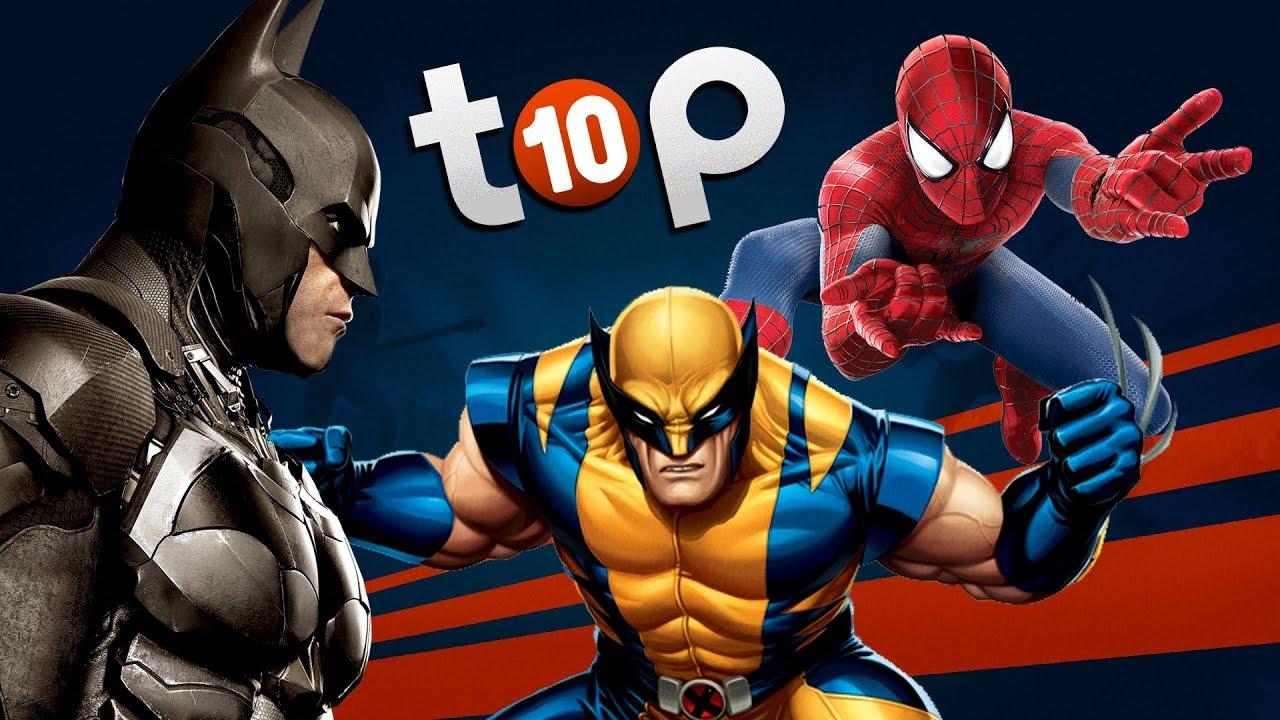 les meilleurs jeux de super h ros top 10 youtube