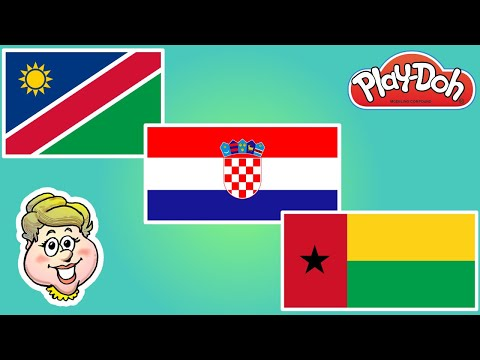 Play-Doh Flags! Namibia, Croatia, and Guinea-Bissau! EWMJ #488