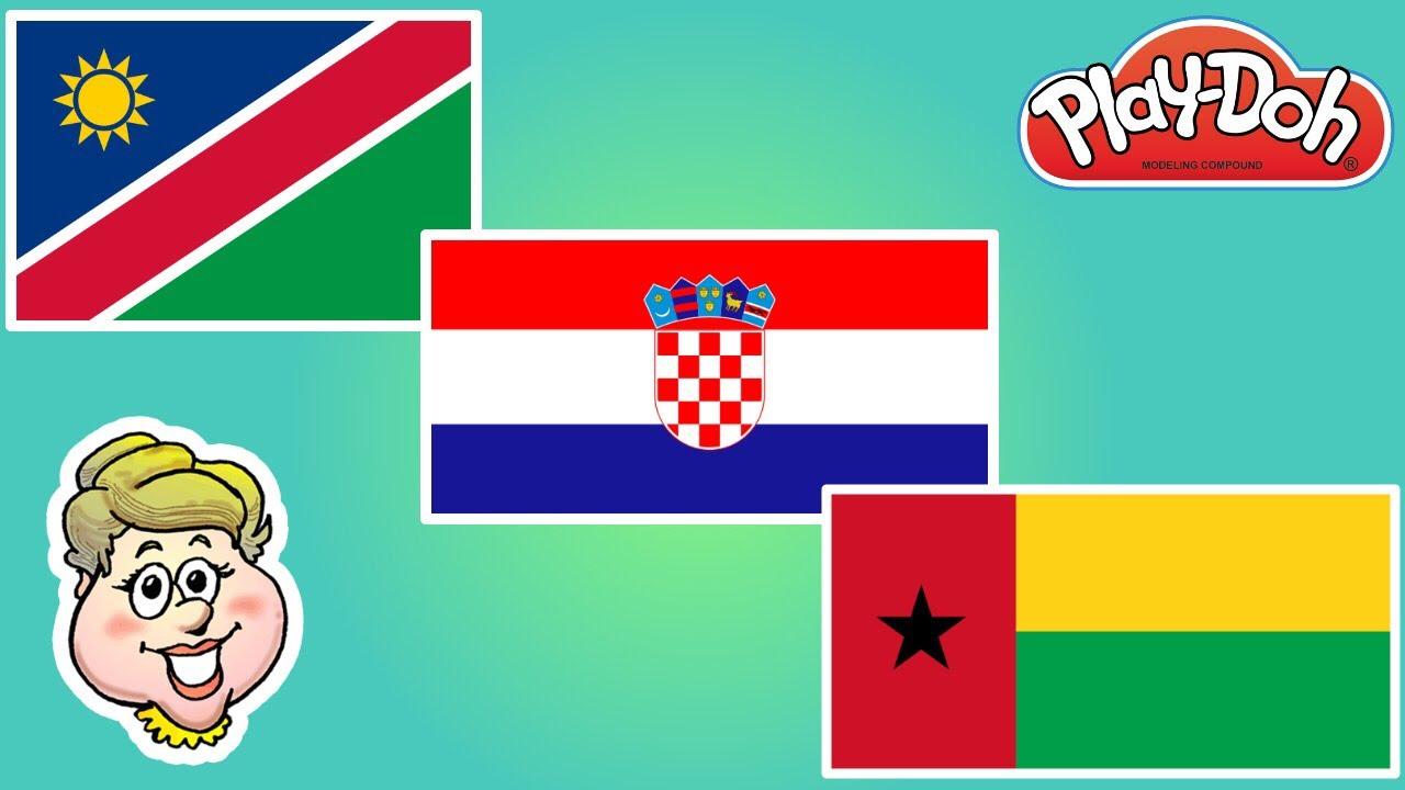 play doh flags namibia croatia and guinea bissau ewmj 488