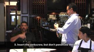 Restaurant Wine Service Etiquette with Sommelier, James King