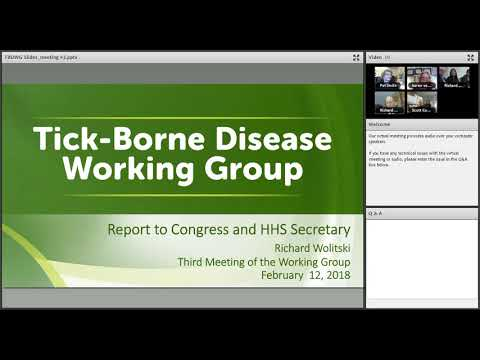 Tick Borne Disease Working Group Main Meeting