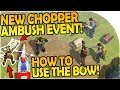 watch he video of NEW CHOPPER AMBUSH EVENT - HOW TO USE THE BOW BEST! - Last Day On Earth Survival 1.5.8 Update
