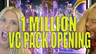 BIGGEST MASSIVE 1 MILLION VC PACK OPENING! Multiple AMETHYST PULLS! INSANE! NBA 2k16 MyTeam