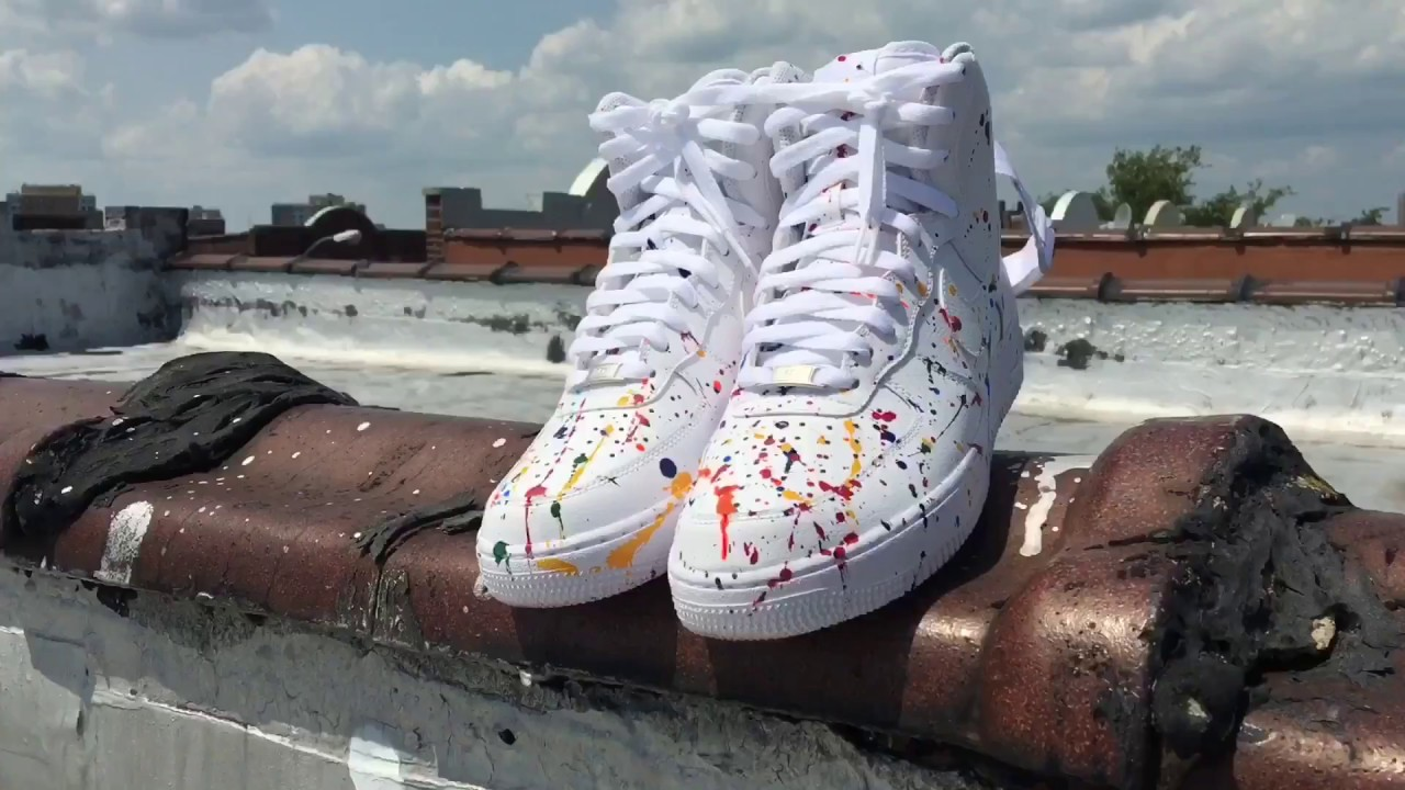 los angeles 04d4a 1b218 HOW TO  CUSTOM AIR FORCE 1s ( PAINT SPLATTER ) - YouTube