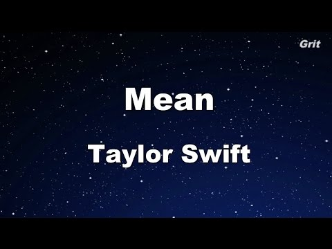 Mean - Taylor Swift Karaoke【With Guide Melody】