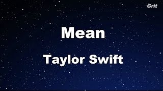 Mean - Taylor Swift Karaoke【Guide Melody】