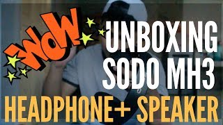 Unboxing SODO MH3 2 IN 1 Headphone with Flip-out Speaker